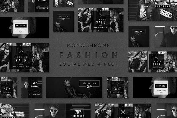 Monochrome Fashion Social Media Pack