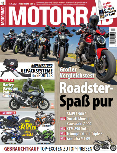 Cover: Motorrad Magazin No 13 vom 11  Juni 2021
