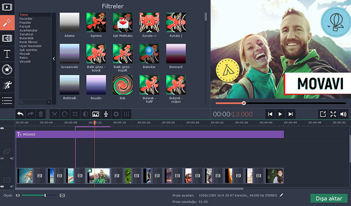 Movavi Video Suite 18.2.0 Türkçe