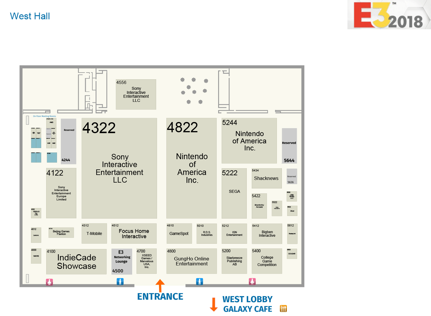 E3 2018 Finalized Floor Plans Now Available Resetera