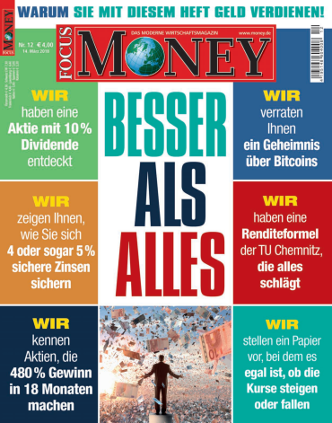 :  Focus Money Finanzmagazin No 12 vom 14 März 2018