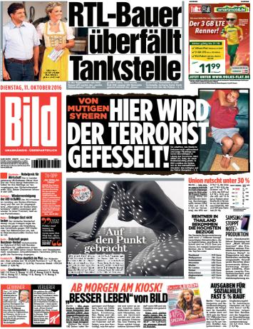 : Bild Zeitung - 11 Oktober 2016