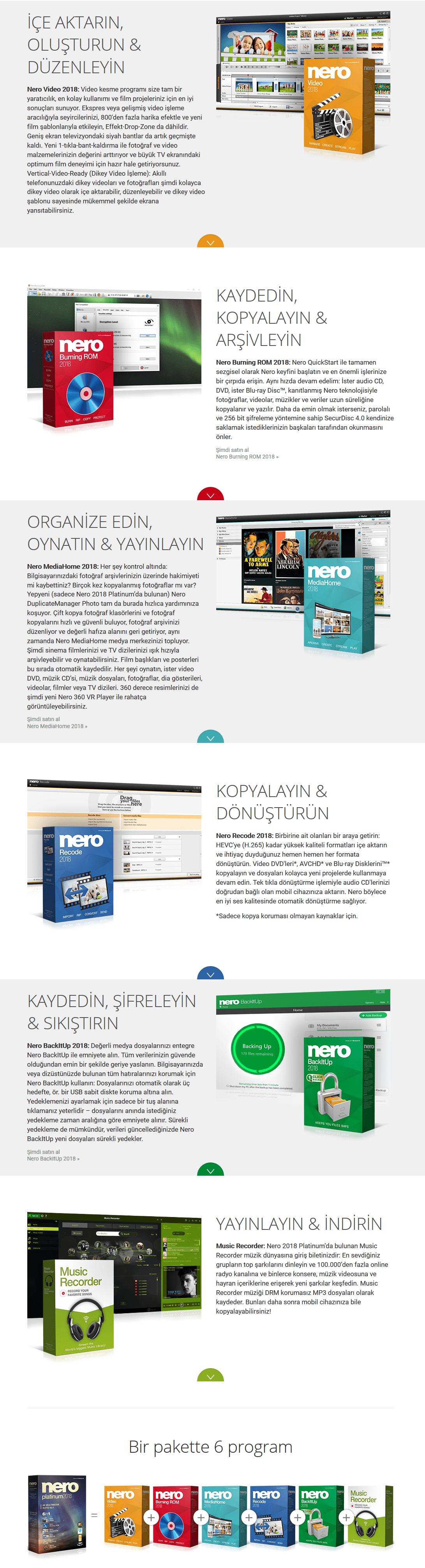 Nero Platinum 2018 Suite 19.0.10200 Türkçe + İçerik Paketi