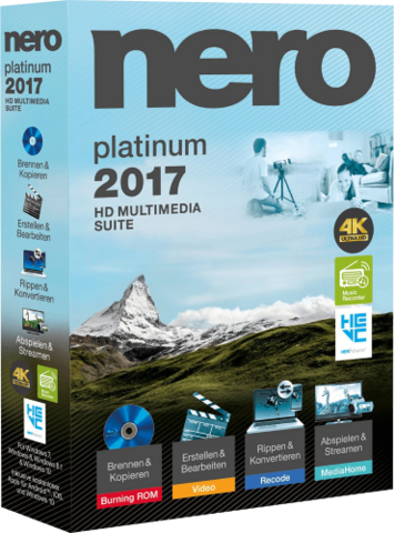 : Nero 2017 Platinum 18.0.06100 + Content Pack Multilanguage inkl.German