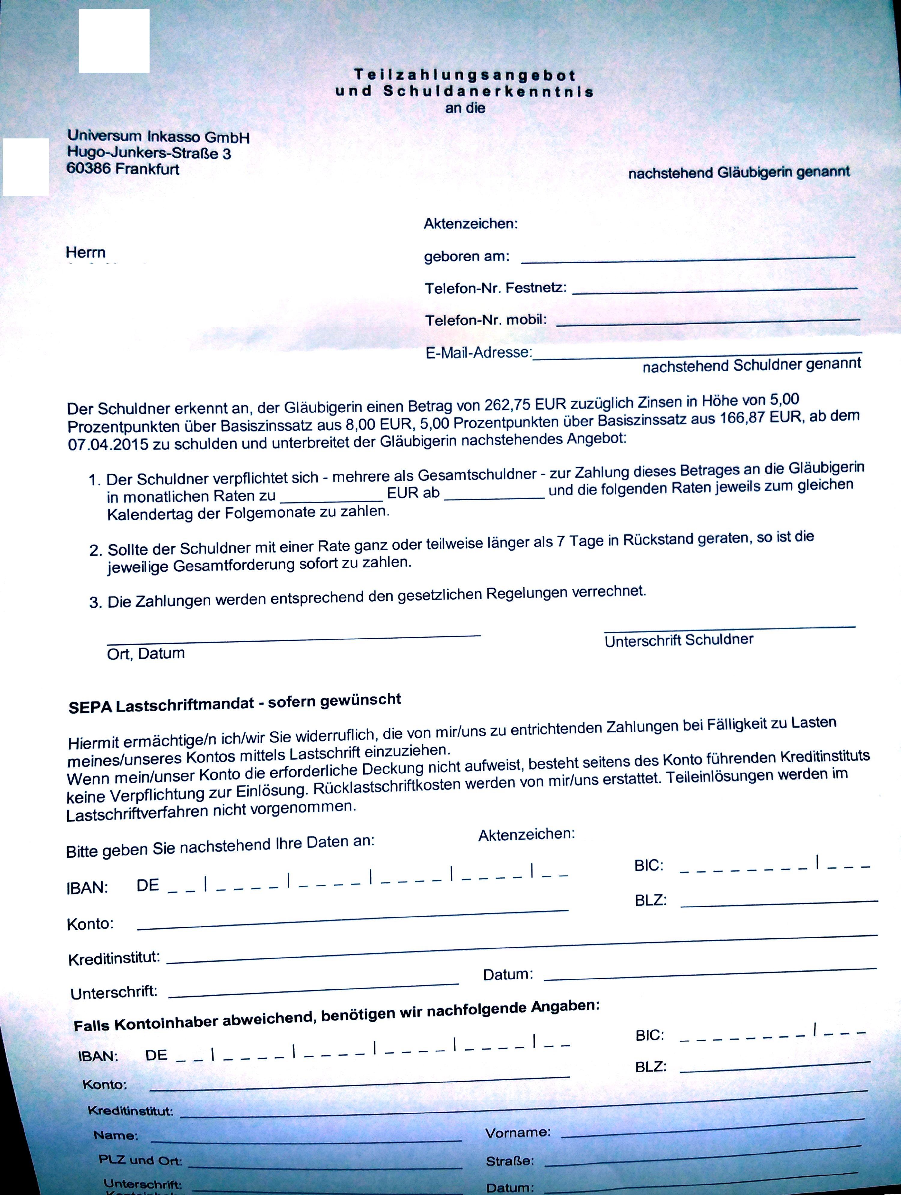 Bitte Um Beratung Nach Schufa Abfrage Vollstreckungsbescheid
