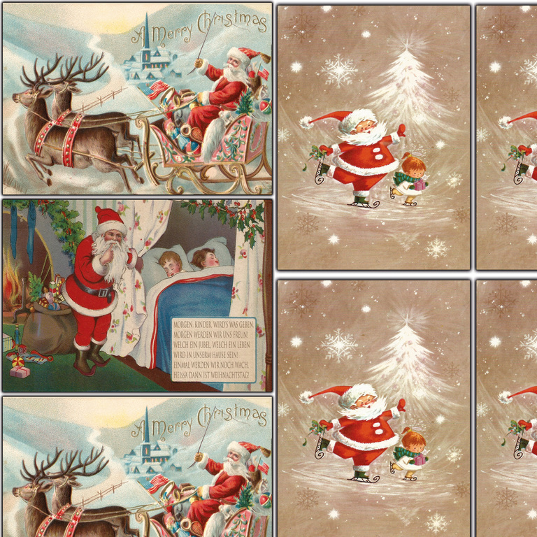weihnachtspostkarten set 10 20 30 nostalgie postkarten. Black Bedroom Furniture Sets. Home Design Ideas