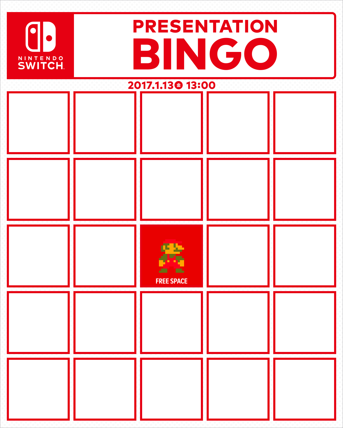 Bingo card megathread nintendoswitch want to make your own bingo card for the presentation heres a blank one solutioingenieria Images