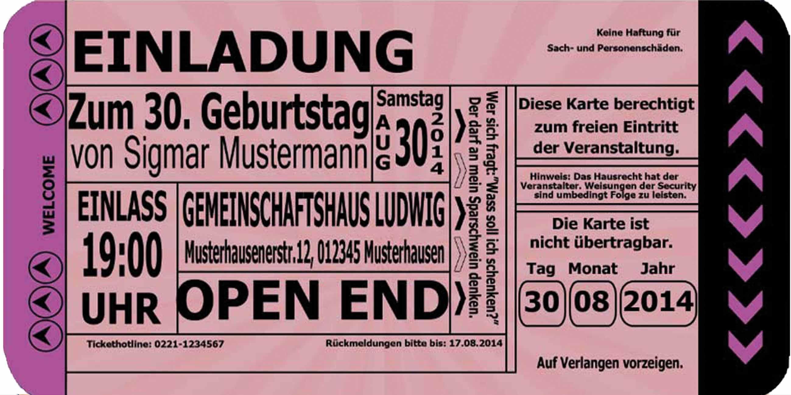 Einladungskarten Zum Geburtstag Einladung Geburtstagseinladungen ...