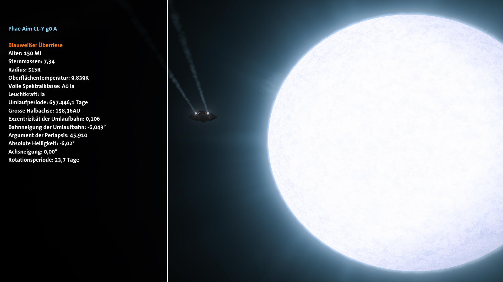 Blue-white supergiant
