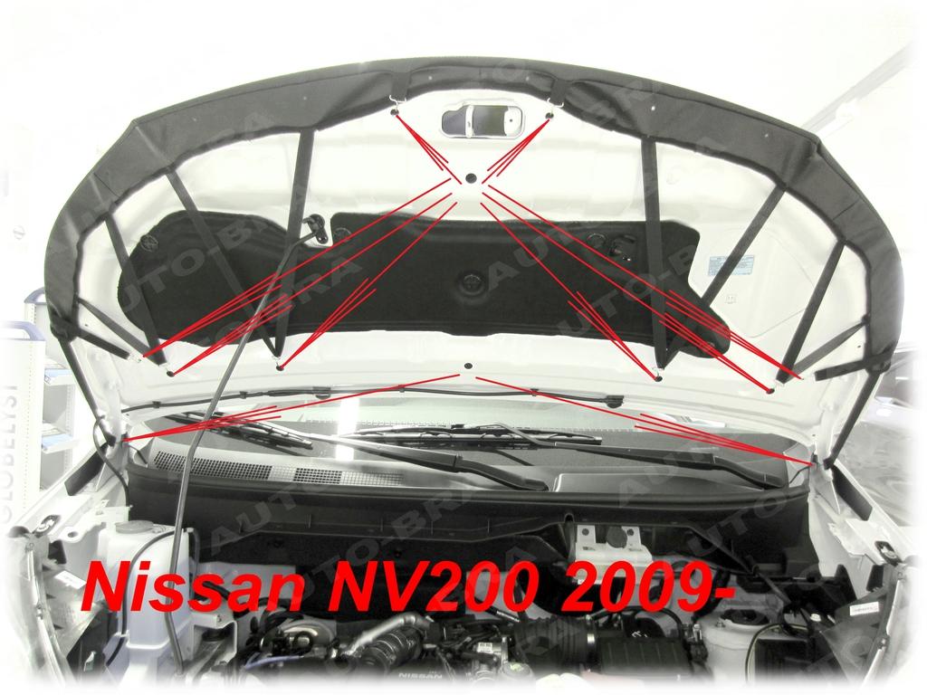 CARBON FIBER LOOK CAR HOOD BRA for NV200 EVALIA VANETTE since 2009 MASK