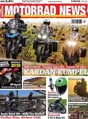 Motorrad News Magazin Januar No 01 2019