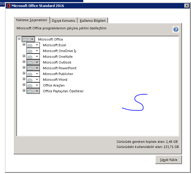 Office 2016 Professional Plus ve Standart - Türkçe Final VL - 32-64 Bit