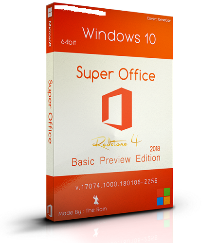 Windows 10 Pro Rs4 x64 Super Office Basic Preview Edition 2018
