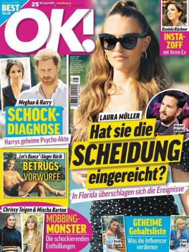 Cover: Ok! Das Exklusiv-Magazin der Stars No 25 vom 16  Juni 2021