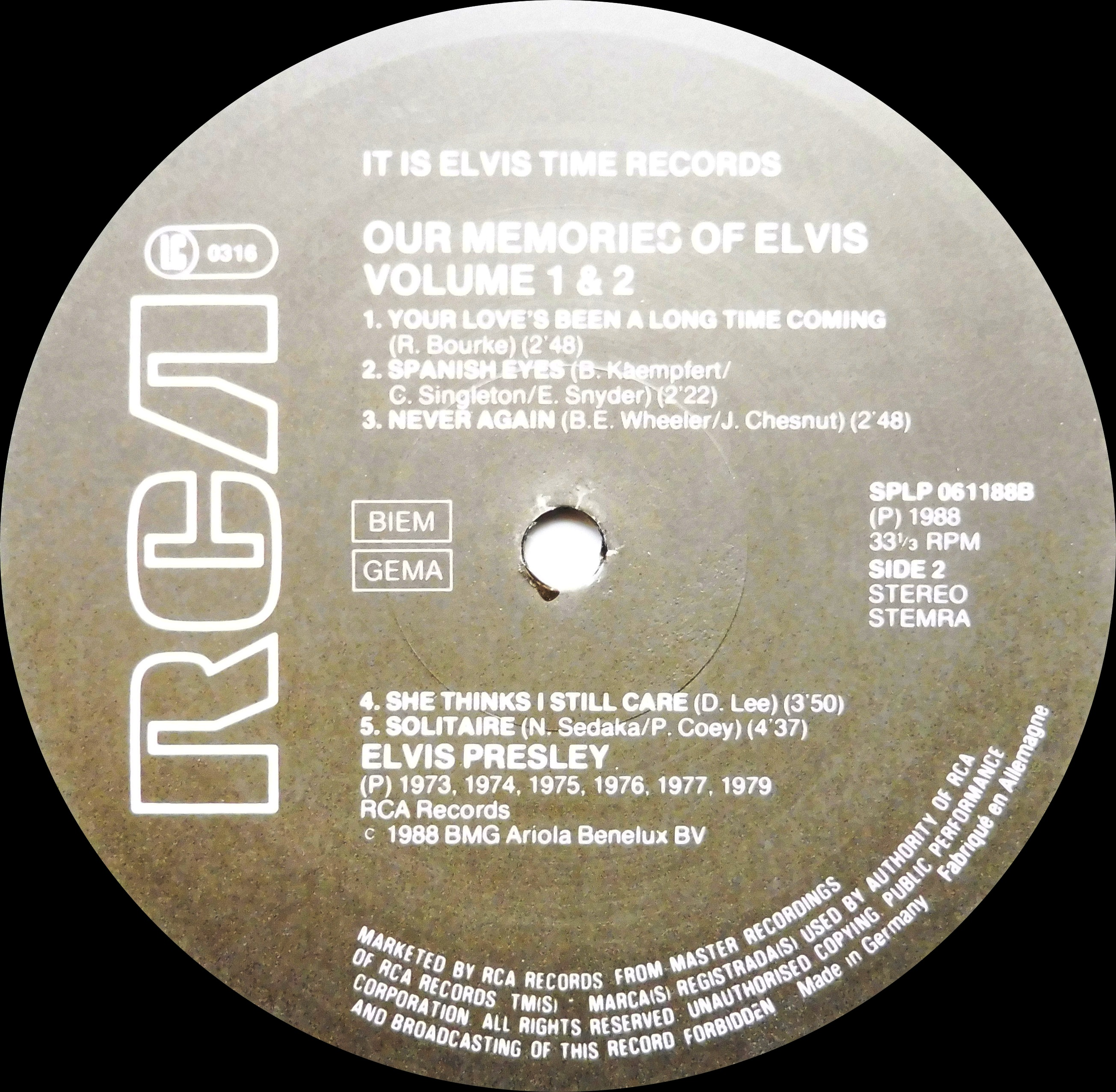 OUR MEMORIES OF ELVIS - Volume 1 & 2 Omoevol1und2nlside21hjuw