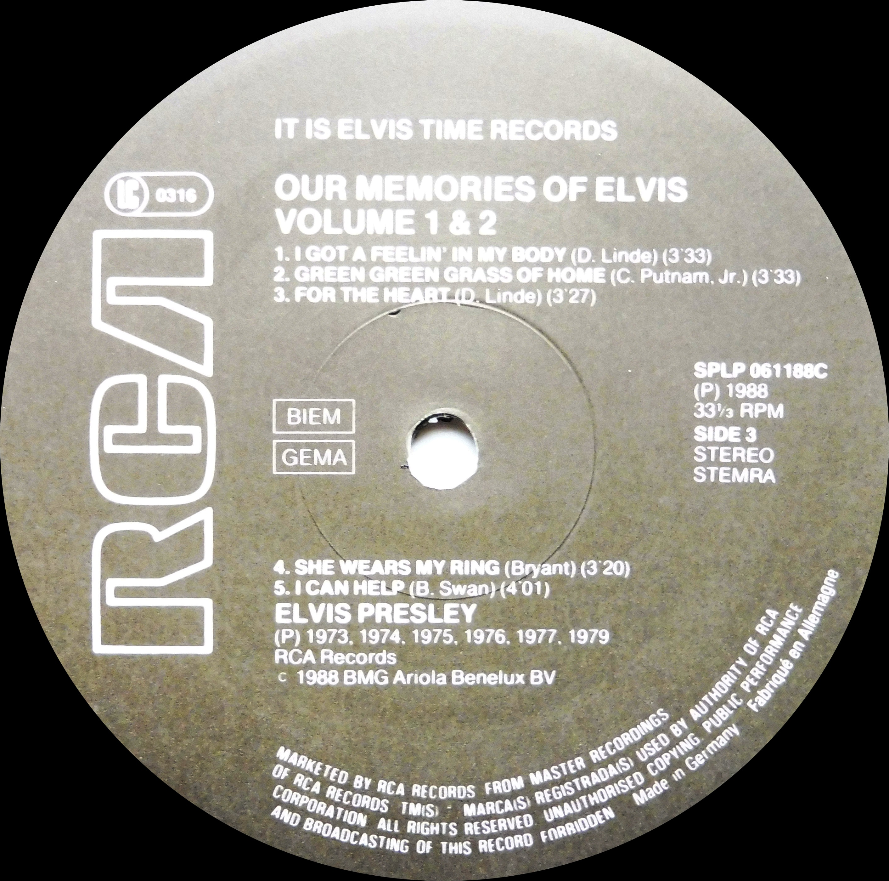 OUR MEMORIES OF ELVIS - Volume 1 & 2 Omoevol1und2nlside3ankfp