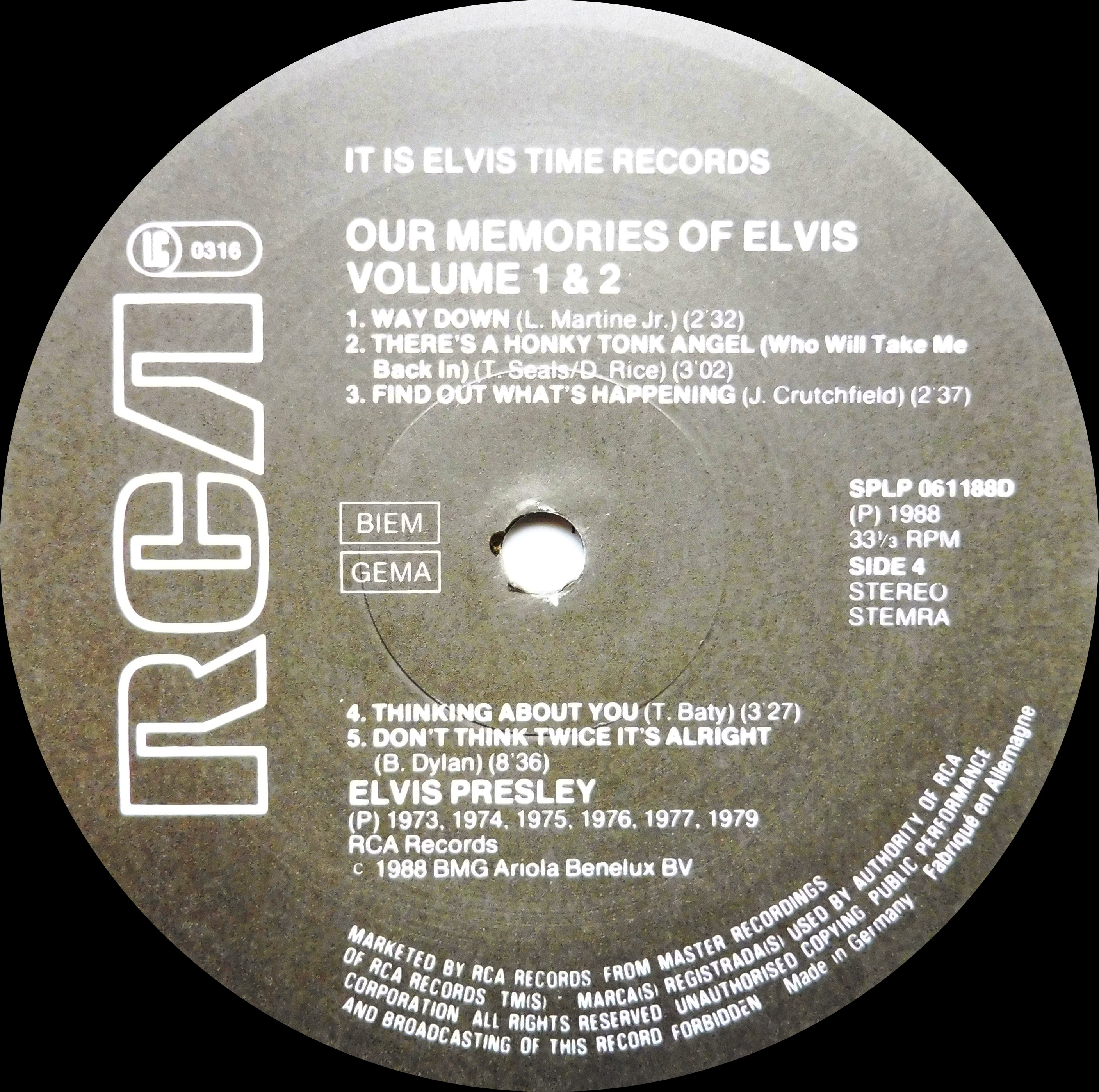 OUR MEMORIES OF ELVIS - Volume 1 & 2 Omoevol1und2nlside4emjfj