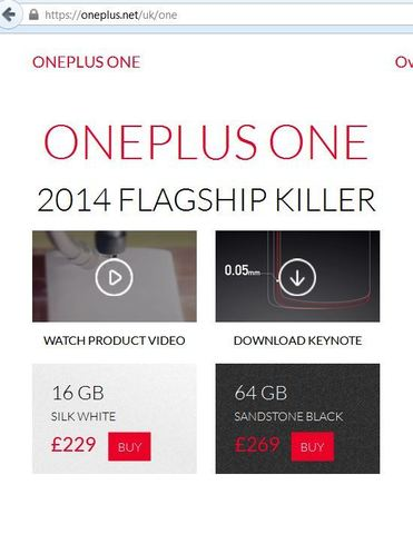 Mobiles: OnePlus One Android Smartphone Quad Core 3GB RAM