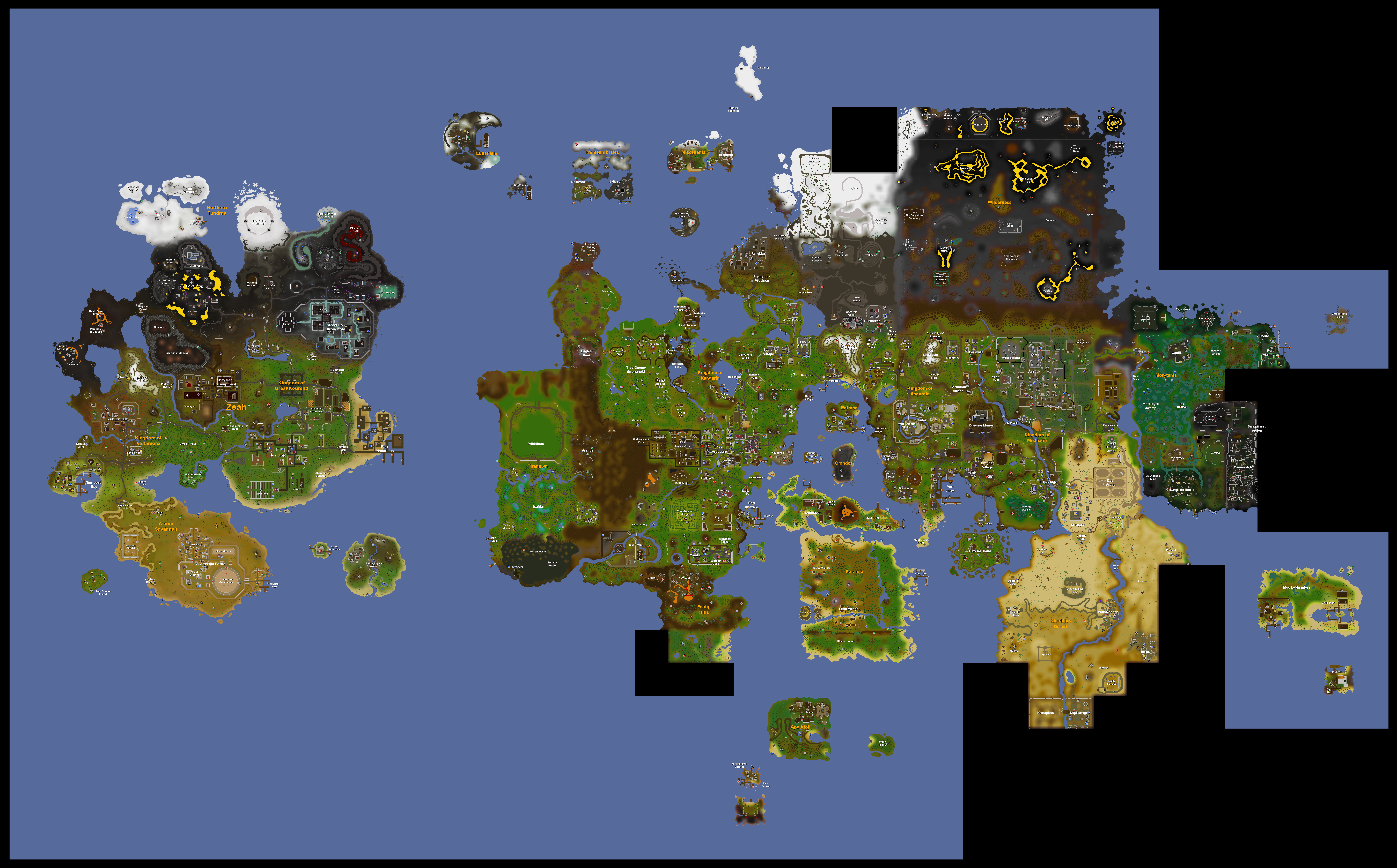 2007 Scape Map Improved Zeah beside the improved world map : 2007scape