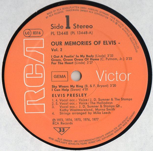 OUR MEMORIES OF ELVIS VOL.2 Ourmemoriesofelvis2otjtg