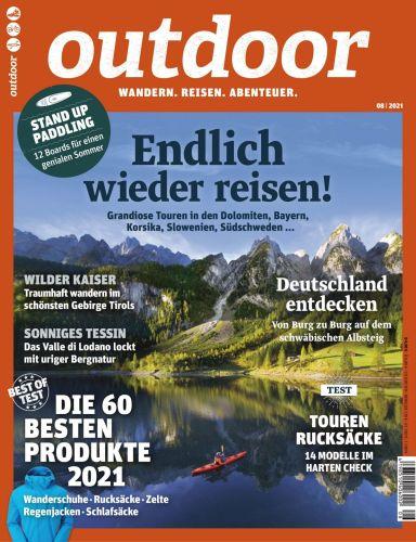 Cover: Outdoor Magazin Wandern, Reisen, Abenteuer No 08 2021