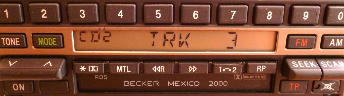 mercedes becker mexico 2000 be 1460 empfangsteil cd. Black Bedroom Furniture Sets. Home Design Ideas