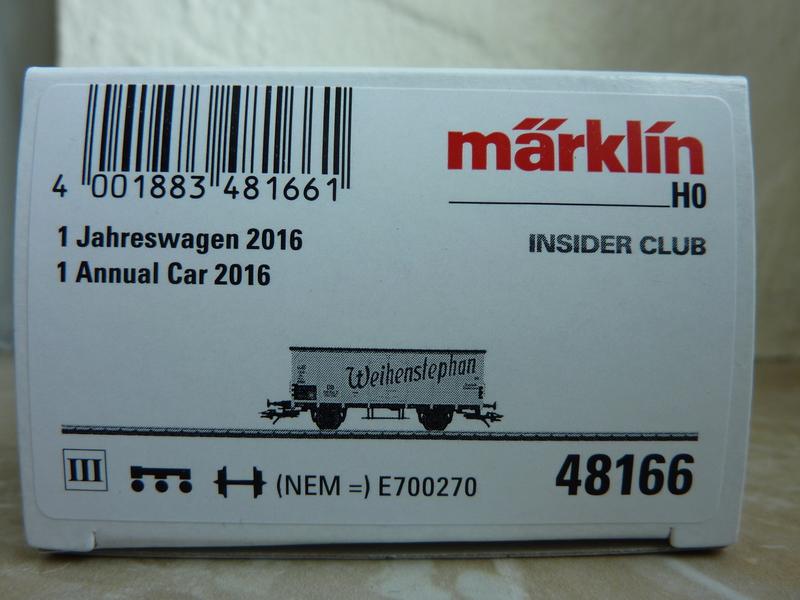 """Märklin 48166 - Insiderwagen 2016 ,,Weihenstephan"""" P11605373zss3"""