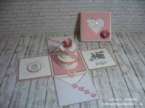 Explosionsbox zur Hochzeit mit Torte Hochzeit Sammeln & Seltenes