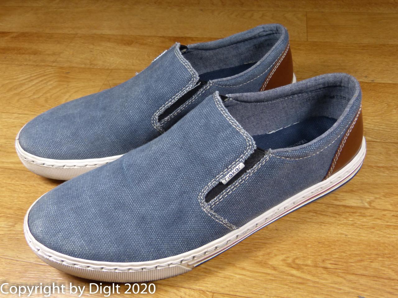 Details zu Schuhe Rieker Sneaker Slipper Leinen Gr. 42, guter Zustand