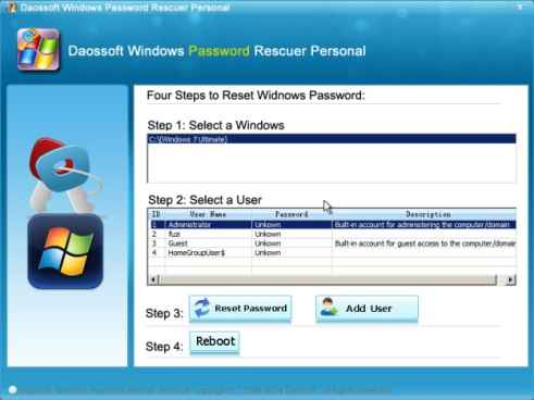 DaosSoft Windows Password Rescuer Personal