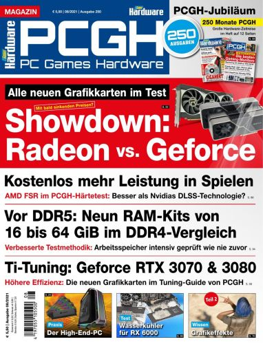 Cover: Pc Games Hardware Magazin Nr 08 August 2021