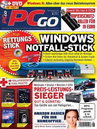 Cover: Pcgo Magazin August No 08 2021