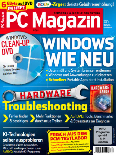 Cover: Pc Magazin Personal & Mobile Computing No 07 2021
