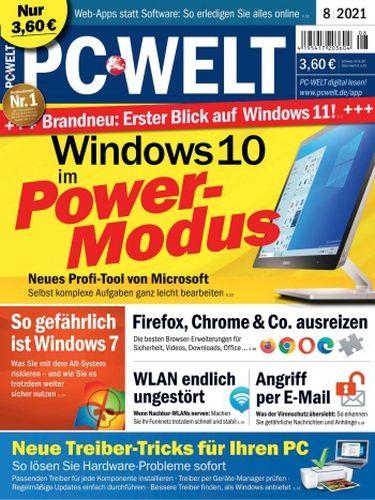Cover: Pc Welt Magazin No 08 2021