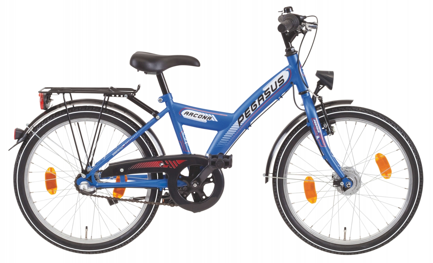 kinder fahrrad pegasus arcona nd 20 zoll blau shimano 3. Black Bedroom Furniture Sets. Home Design Ideas