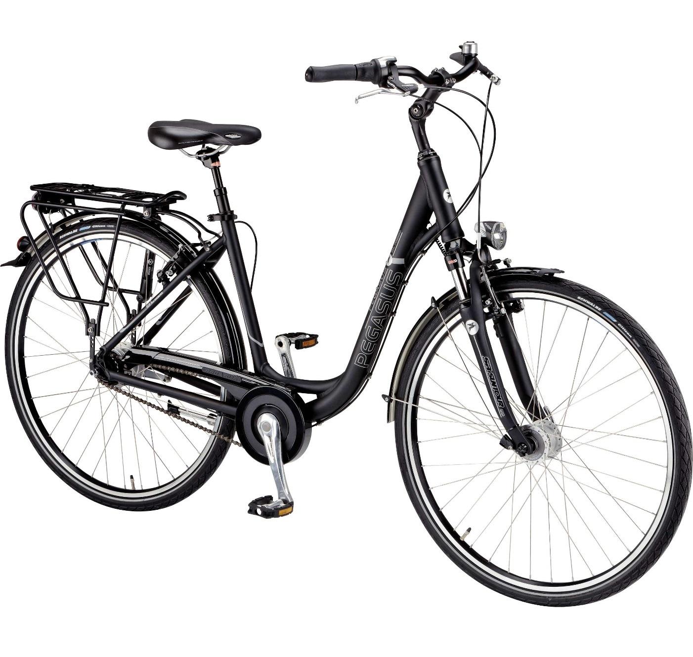 damen trekking fahrrad pegasus premio sl schwarz 45 cm. Black Bedroom Furniture Sets. Home Design Ideas