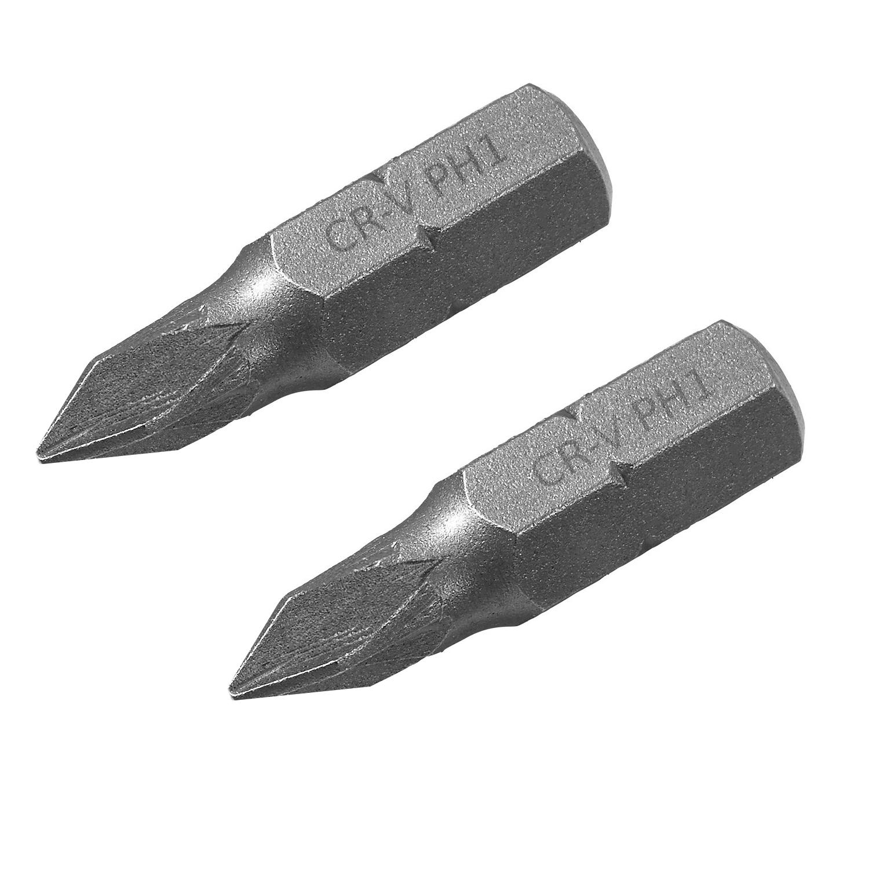 Neu 5//10 x Kreuzschlitz PH2 Phillips Schraubendreher-Bits 1//4 Zoll Bit 25mm//50mm