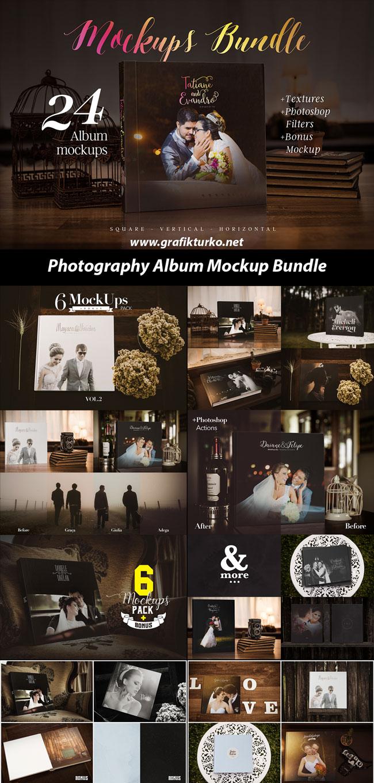 Photography Album Mockup Bundle-Photoshop PSD