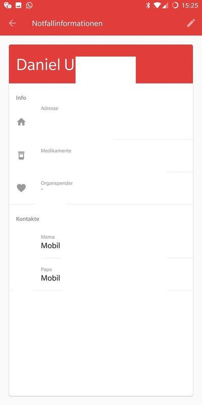 Android Notfallpass