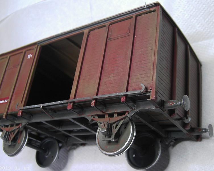 gedeckter Güterwaggon 18t in 1:35 Pict81012iqjye