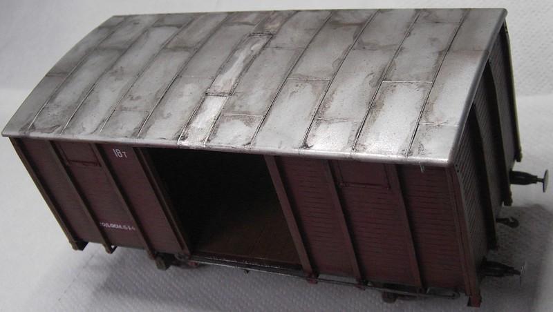 gedeckter Güterwaggon 18t in 1:35 Pict81022e4klc