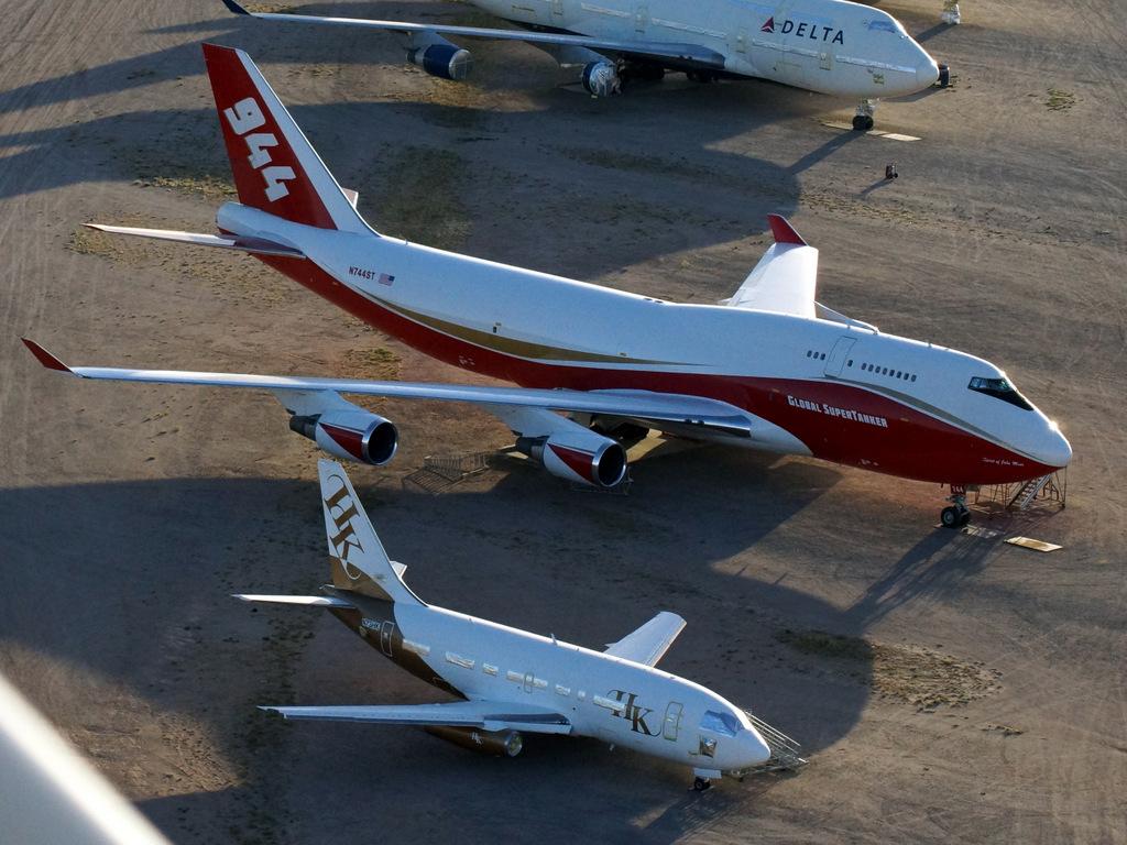 Arizona Avgeek Trip – Pinal Airpark Flyover (747 boneyeard