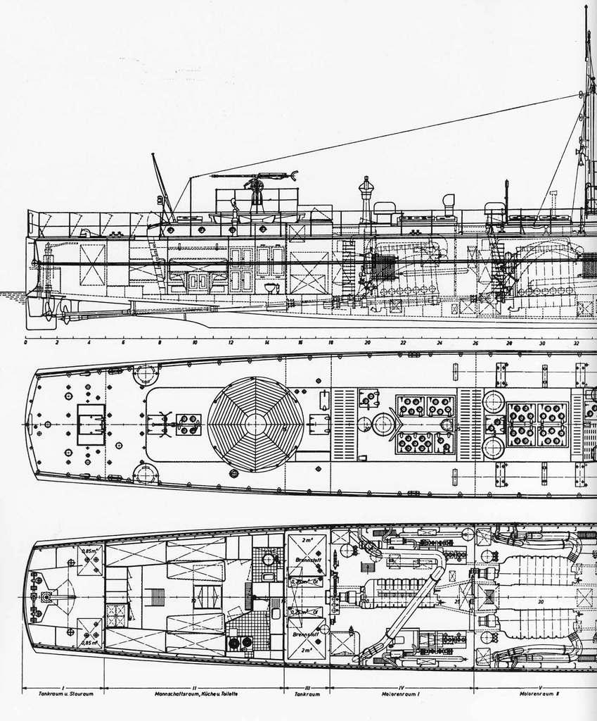 Schnellboote Série S7-S13 de la Reichsmarine 1:250 Plan-1ccjef