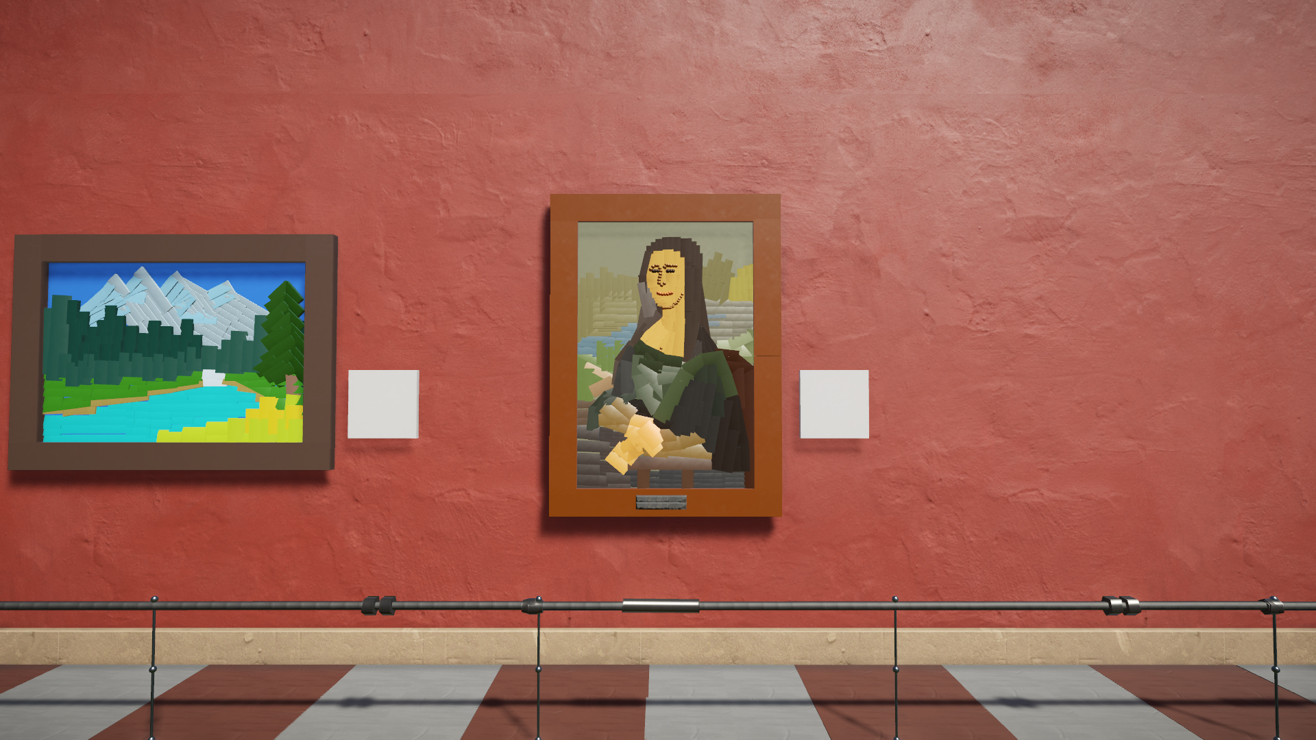 The Planet Coaster Museum - Various real life paintings to