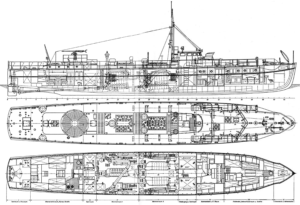 Schnellboote Série S7-S13 de la Reichsmarine 1:250 Plansbootesrjhq