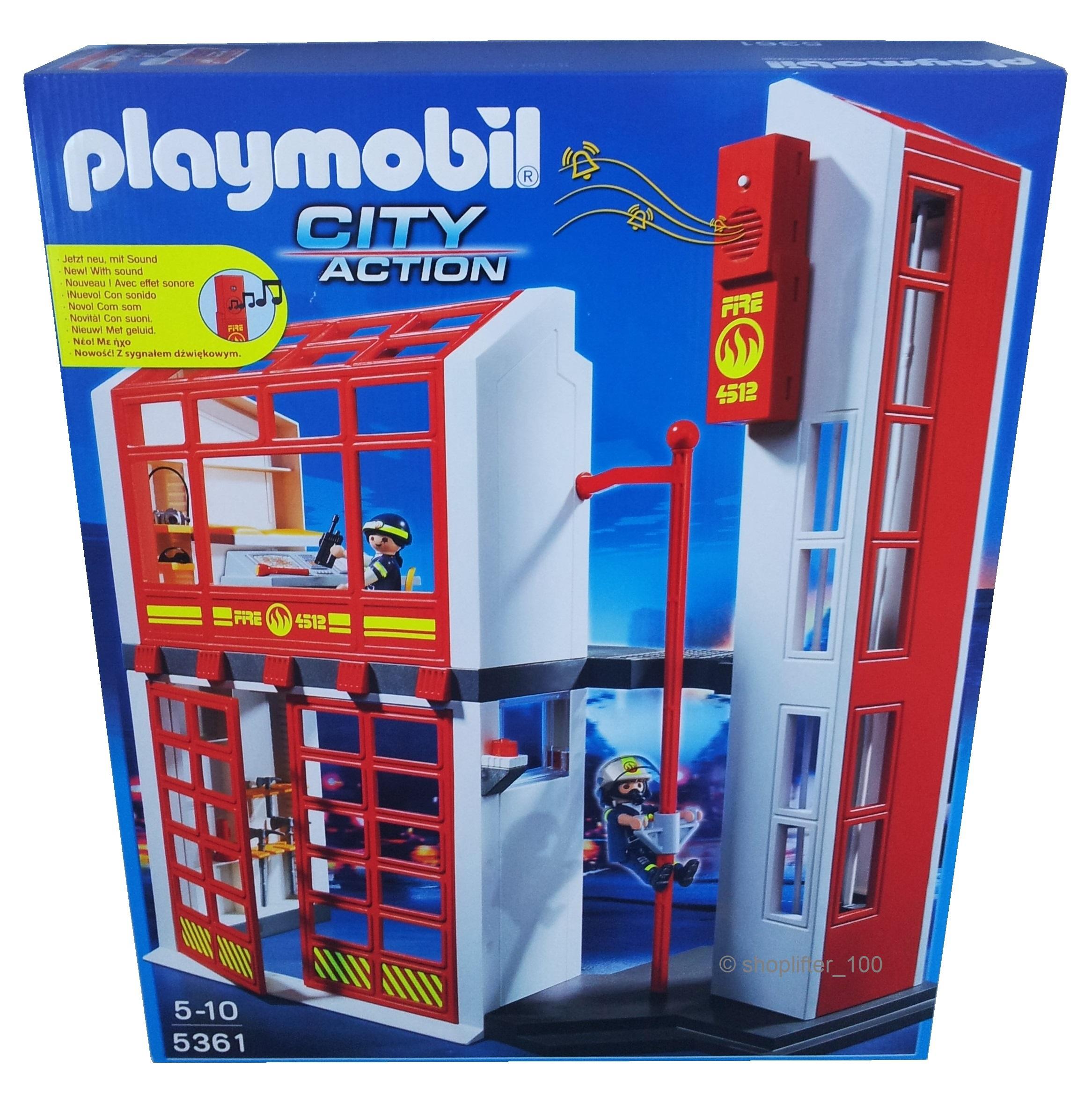 playmobil 5361 feuerwehrstation mit alarm neu ovp feuerwehr ebay. Black Bedroom Furniture Sets. Home Design Ideas