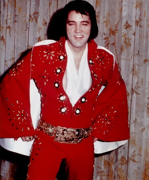03 Red Pinwheel Jumpsuit Rex Martin S Elvis Moments In