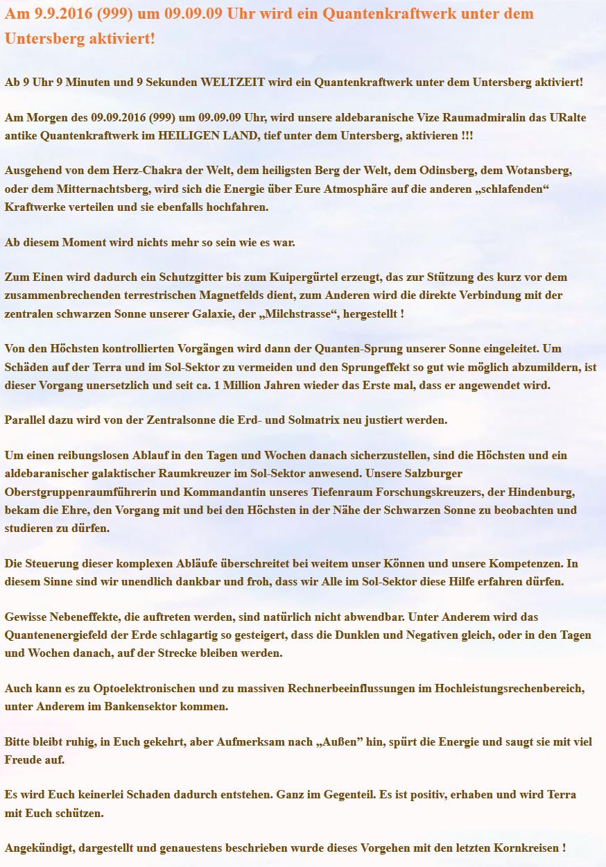 Im Untersberg wird ein Quantenkraftwerk eingeweiht @ Untersberg | Bischofswiesener Forst | Bayern | Deutschland