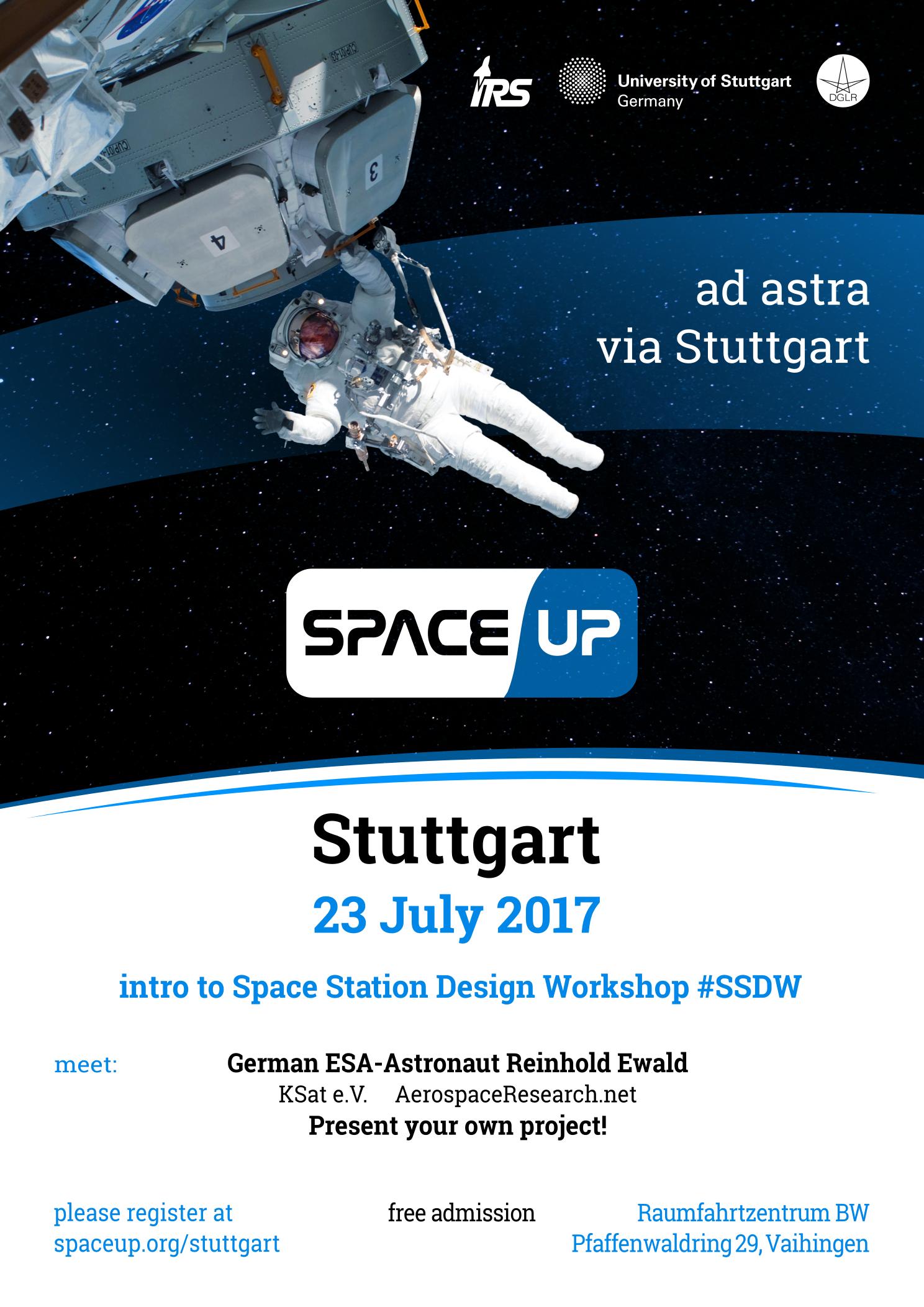 Invitation to SpaceUp Stuttgart 2017