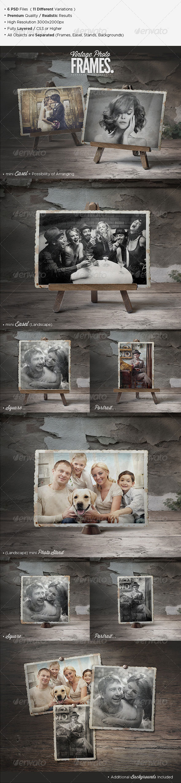Graphicriver - 5683010 Premium Vintage Photo Frames